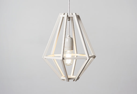 Cumulus Nude Pendant Light / White Painted