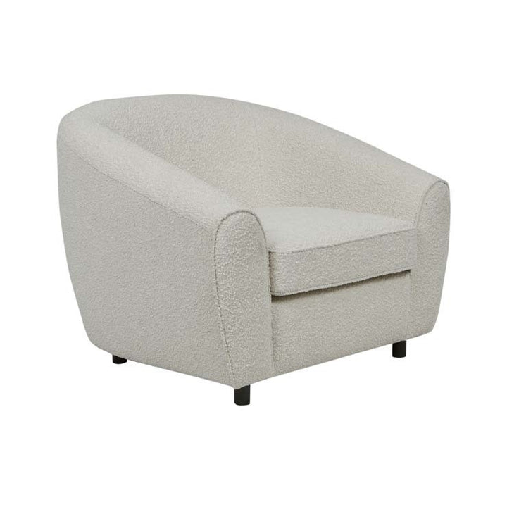 GlobeWest | Hugo Regal Occasional Chair- Oat Boucle