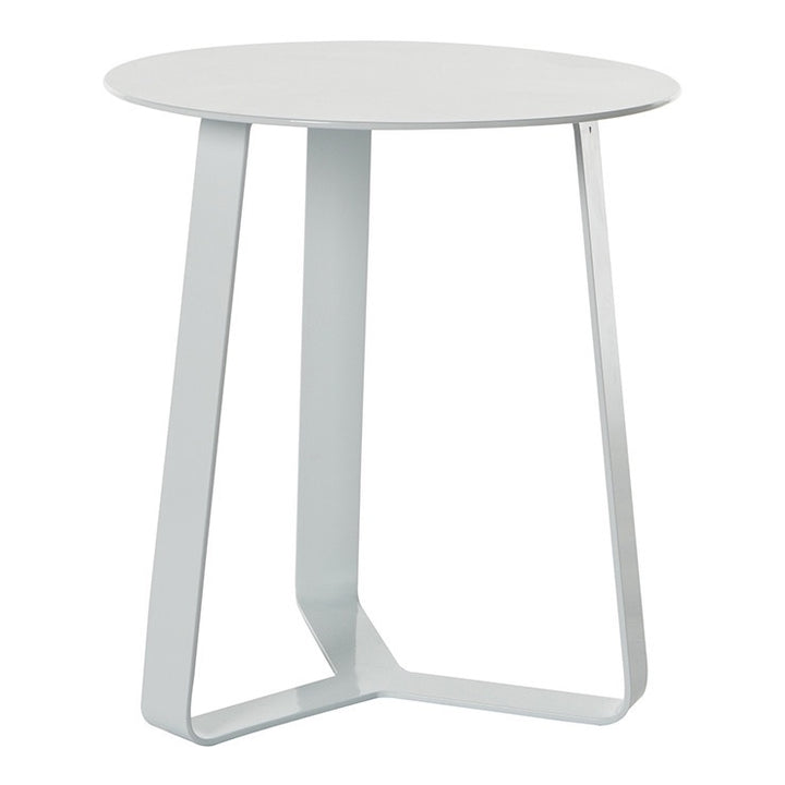 Cancun Ali Outdoor Side Table - White