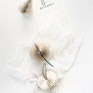 Nordic Rooms | White Paper Tree Ornament