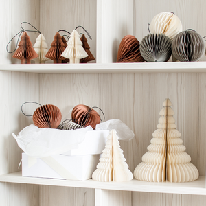 Nordic Rooms | White Paper Scoop Ornament