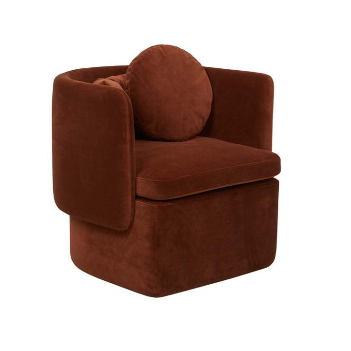 GlobeWest | Hugo Bow Occasional Chair- Cinnamon Velvet