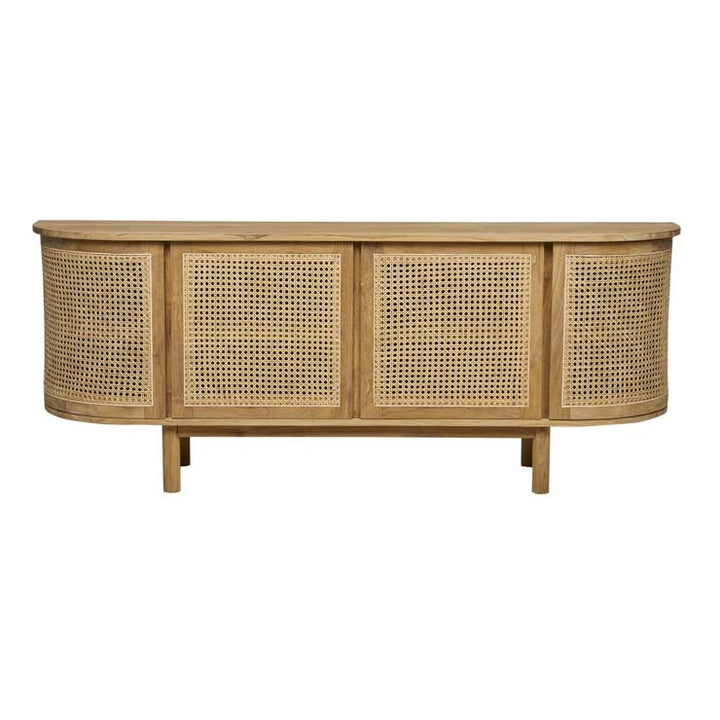 GlobeWest | Willow Curve Buffet - Natural Teak