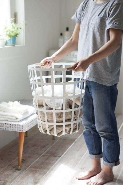 Tosca Laundry Basket Round White