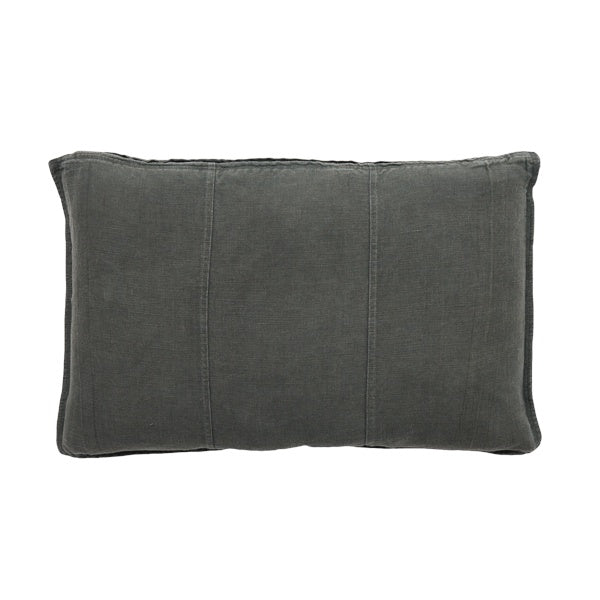 Pre Washed Linen Cushion 40x60 Slate