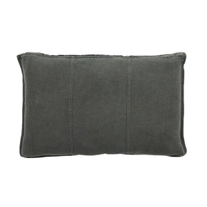 Luca Pre Washed Linen Cushion 40x60 Slate