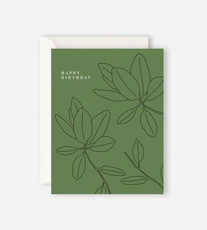 Father Rabbit | Card - Green Happy Birthday