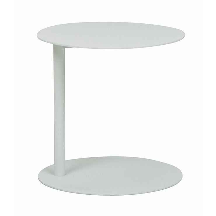 GlobeWest | Aperto Ali Round Side Outdoor Table - White