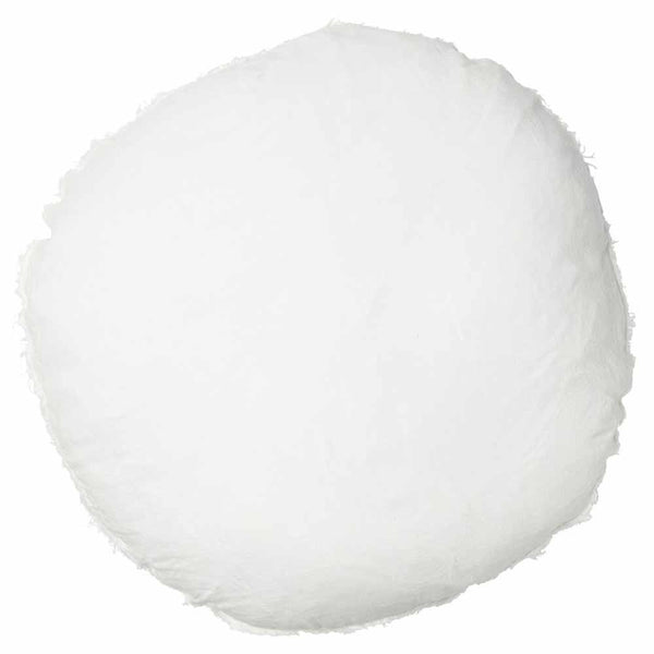 Lulu 100% European Linen Round Cushion White 60cm