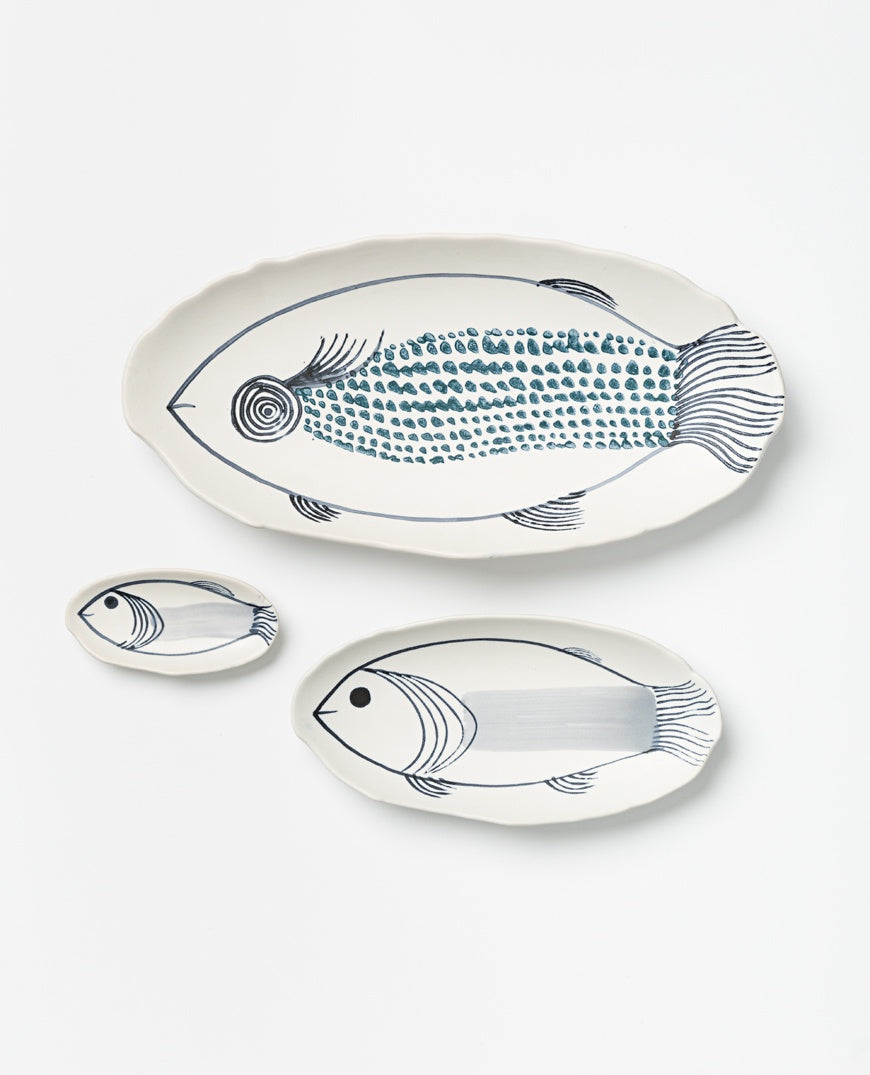 Pisces platter set of 3