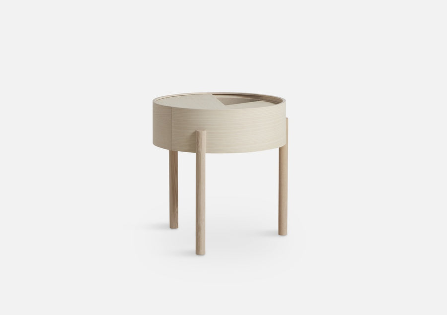 Woud | Arc Side Table - White Ash