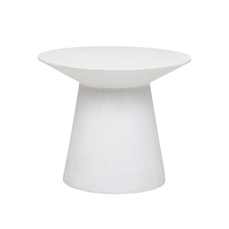 Livorno Round Outdoor Side Table - White