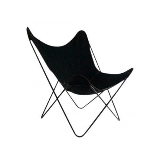 Butterfly Chair   Black Canvas