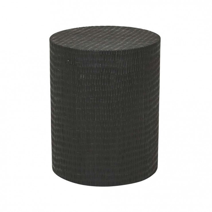 GlobeWest | Zahra Block Side Table- Black Dapple