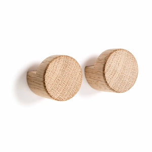 Wood Knot Hook / Natural 2 pieces