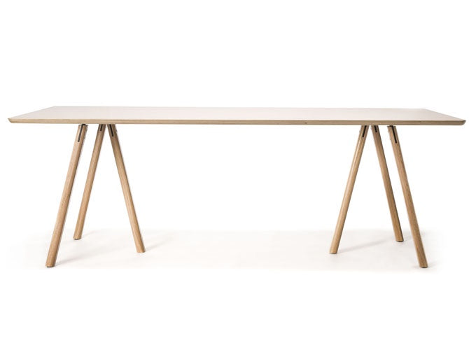 Trestle Table Natural by Allan Nøddebo