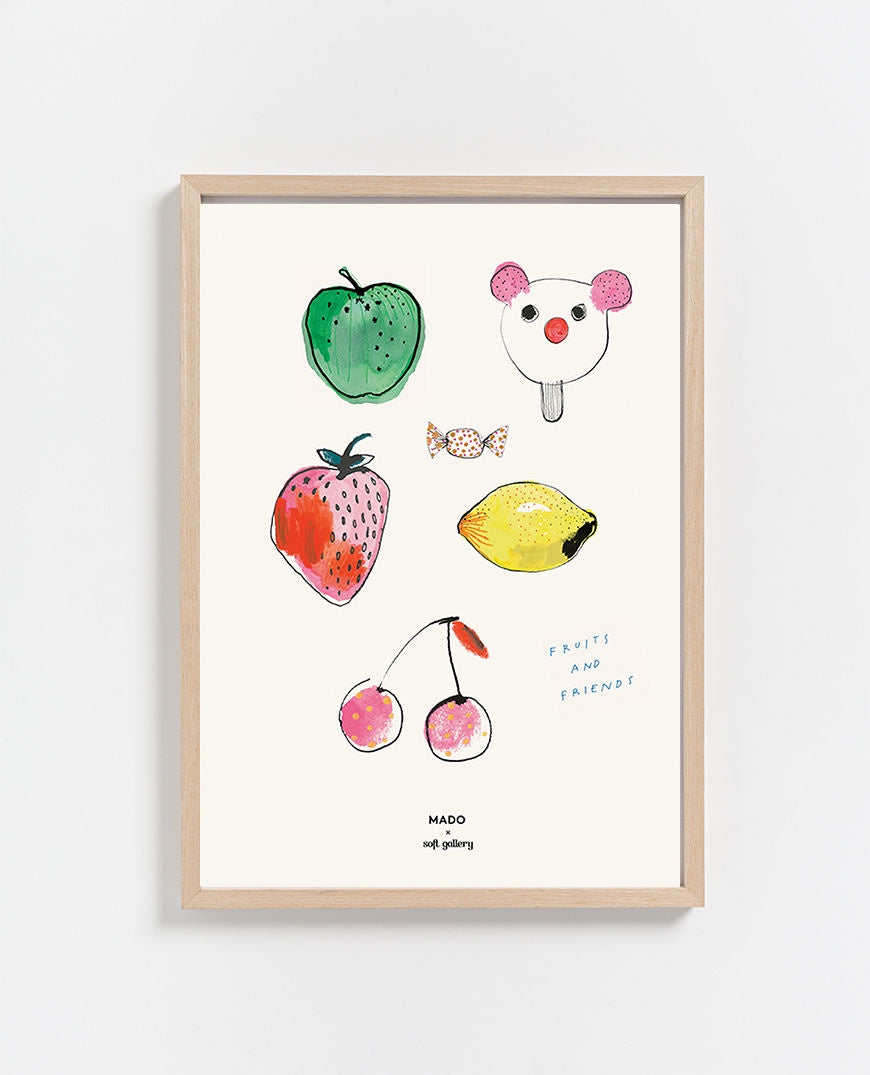 Paper Collective | Fruits & Friends Print 50 x 70cm