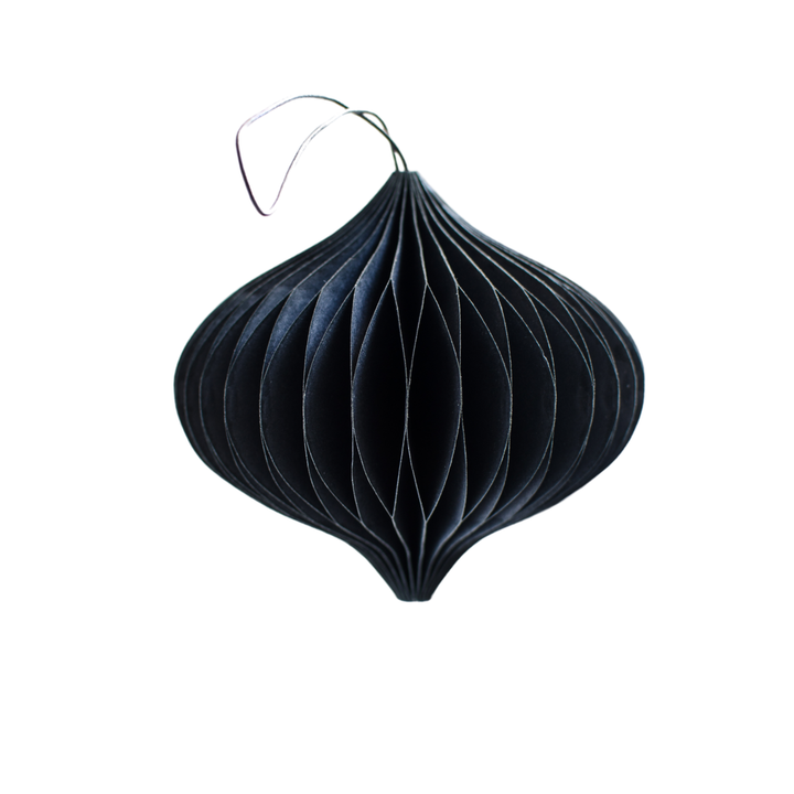 Nordic Rooms | Midnight Haze Paper Onion Ornament