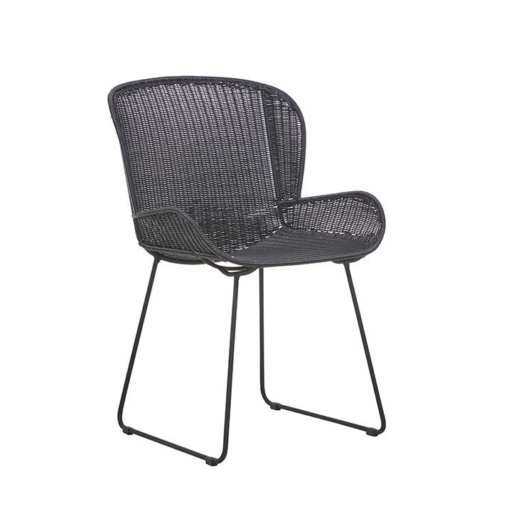 Granada Butterfly Closed Outdoor Dining Chair -Licorice