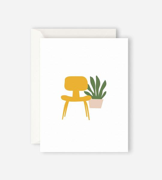 Yellow Chair Card - Father Rabbit