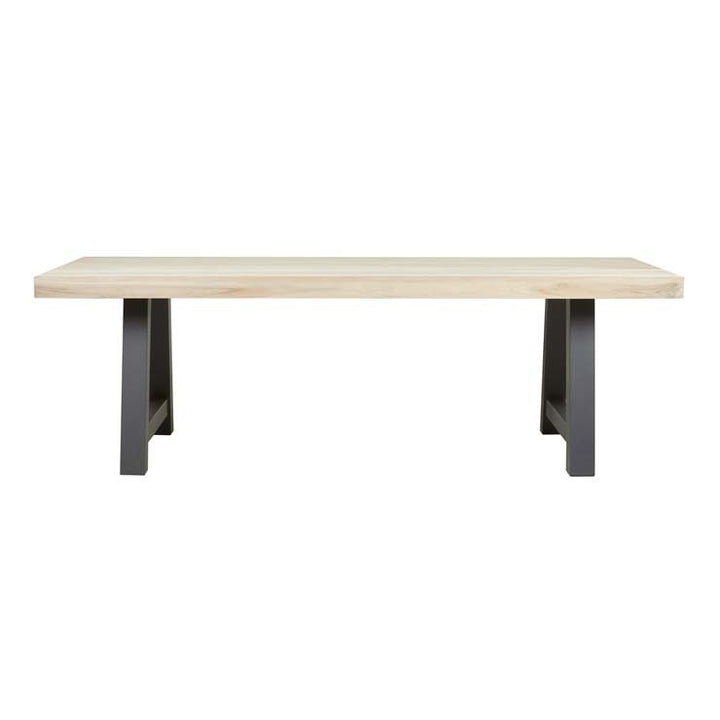 Granada Beach Outdoor Dining Table - Aged Teak/Graphite