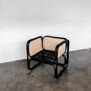 Wilbur Cane Chair - Black