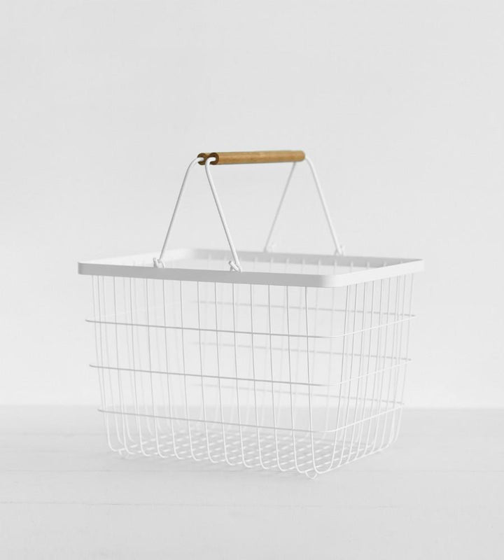Yamazaki  | Tosca Laundry Basket - White Rectangle