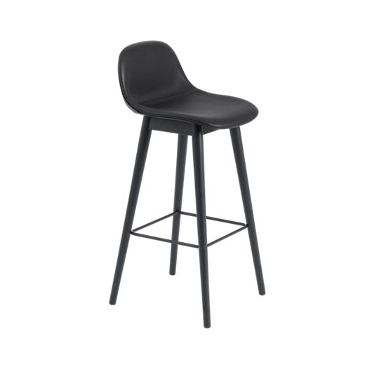 Muuto | Fiber Bar/Counter Stool with Backrest - Wood Base