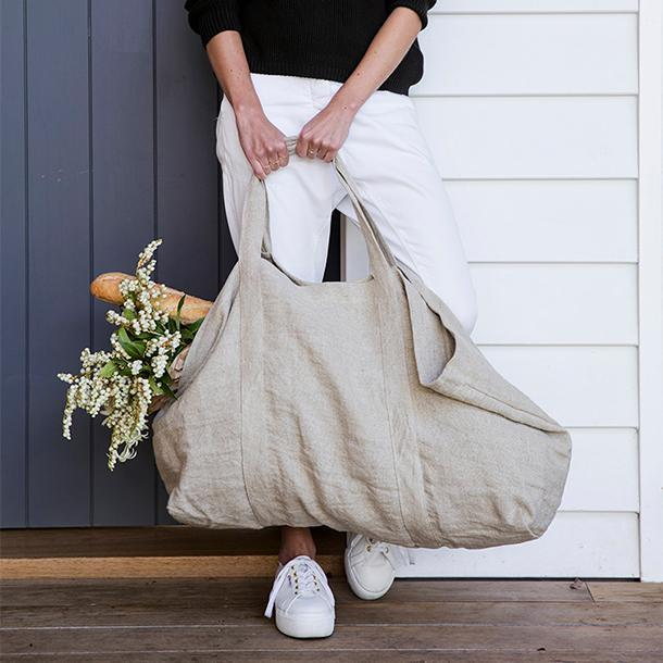 Frankie Linen Bag - Natural