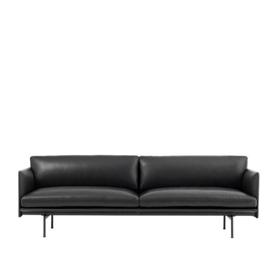 Muuto | Outline Sofa - 3 -seater / Black Base