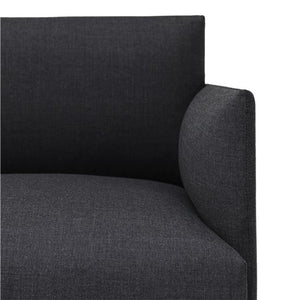 Muuto | Outline Sofa - 2-seater / Black Base