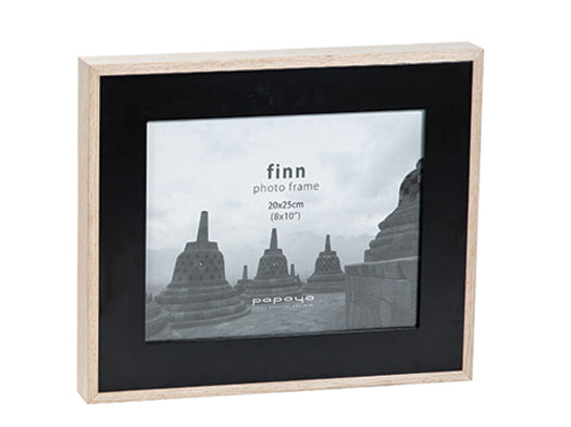 Finn Wide Photo Frame-Black