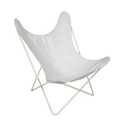 Butterfly Chair - White Canvas