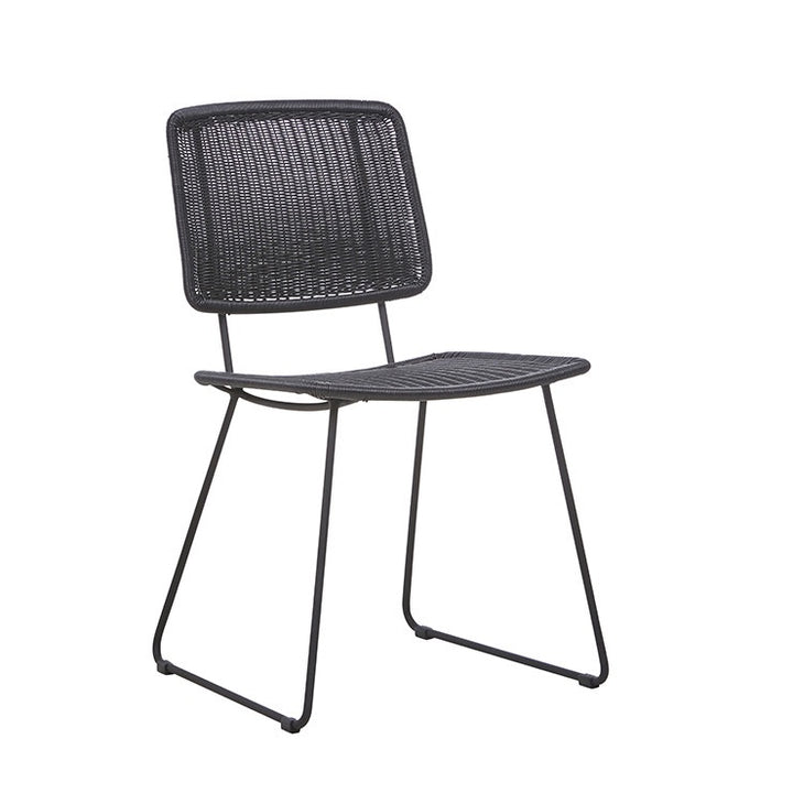 Mauritius (Outdoor) Open Dining Chair - Licorice