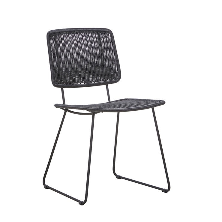 GlobeWest | Mauritius (Outdoor) Open Dining Chair - Licorice