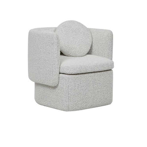 GlobeWest | Hugo Bow Occasional Chair- Grey Speckle Boucle