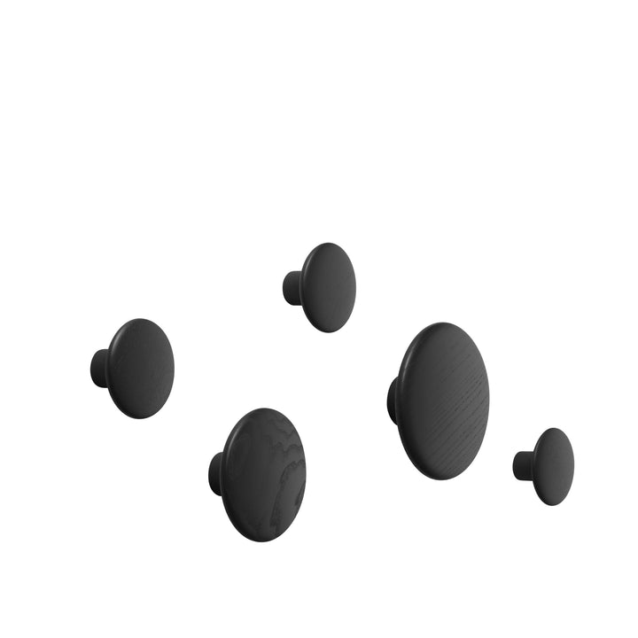 Muuto | Dots Wood (set of 5) - Black