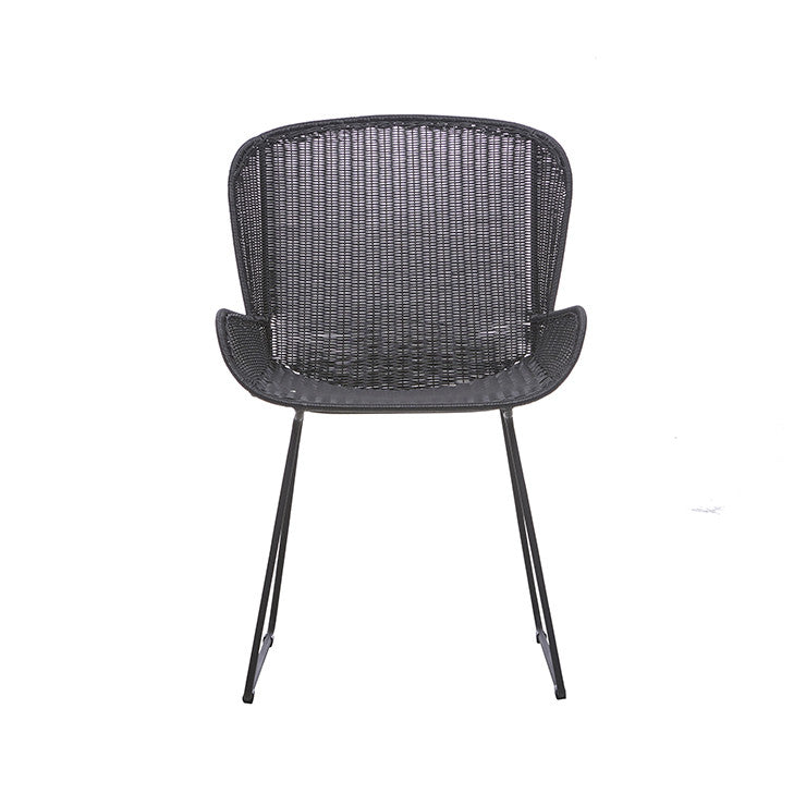 GlobeWest | Granada Butterfly Closed Outdoor Dining Chair -Licorice