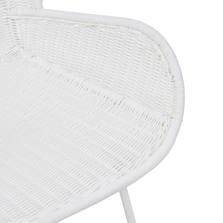 Granada Butterfly Closed Outdoor Dining Chair - White