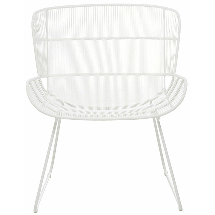 GlobeWest | Granada Butterfly Outdoor Occasional Chair - White