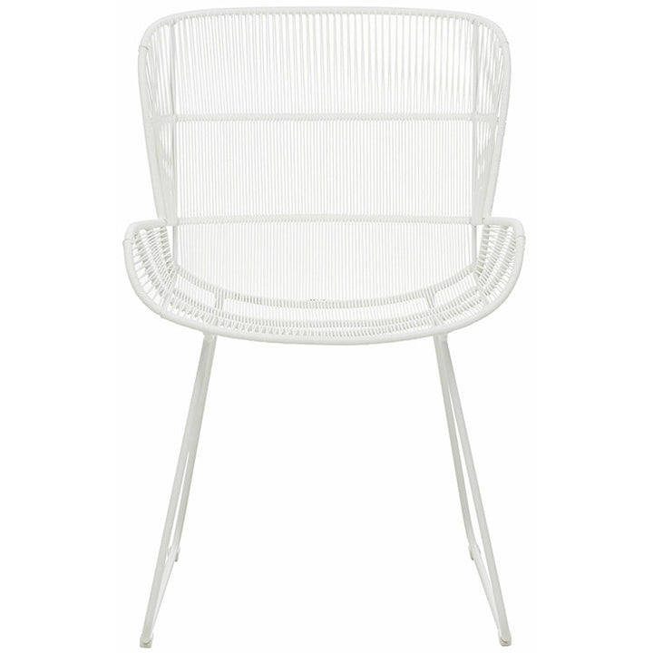 Granada Butterfly Open Weave Dining Chair - White