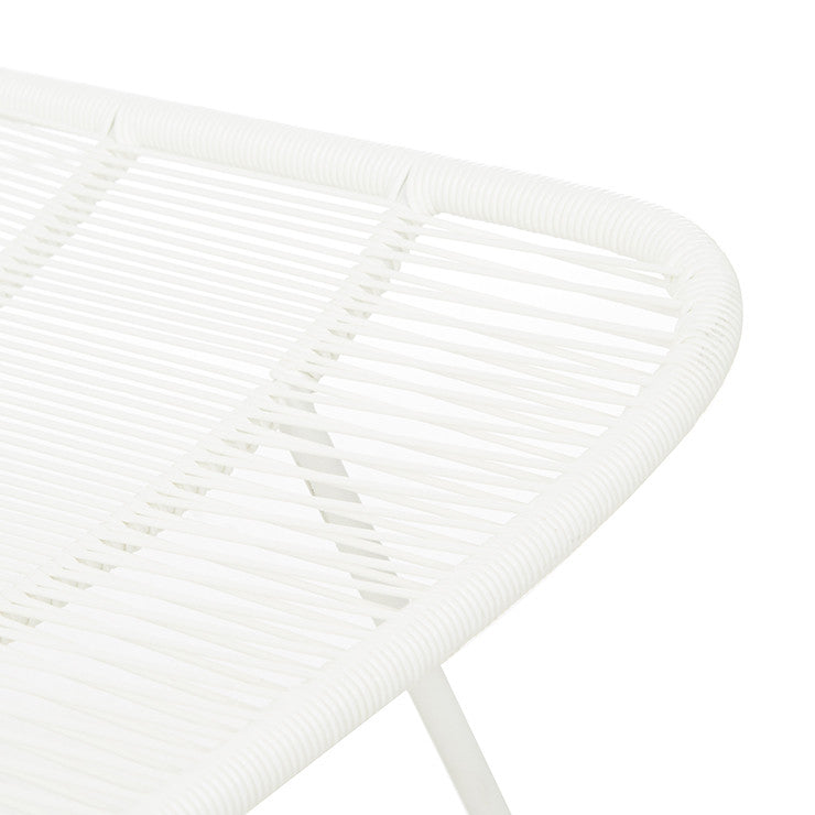 GlobeWest | Granada Sleigh (outdoor) Dining Chair - White