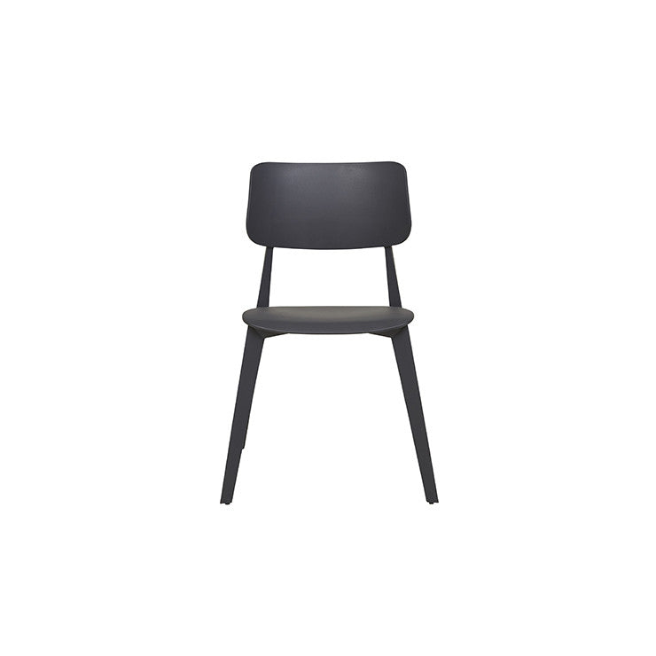 Stellar Stackable Outdoor Dining Chair - Black