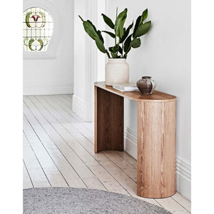 GlobeWest | Classique Oval Console - Matt Dark Oak