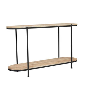 GlobeWest | Merricks Oval Console - Natural / Black