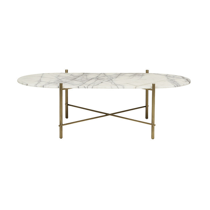 GlobeWest | Elle Pipe Oval Coffee Table