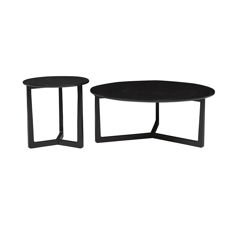 Geo Round Coffee Table - Charcoal