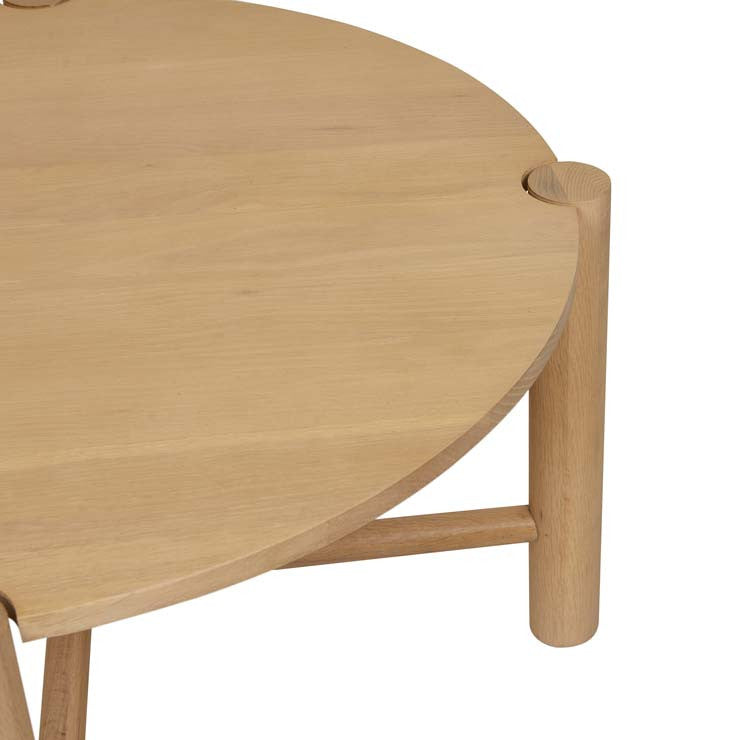 GlobeWest | Linea Oslo Round Coffee Tables- Natural Oak