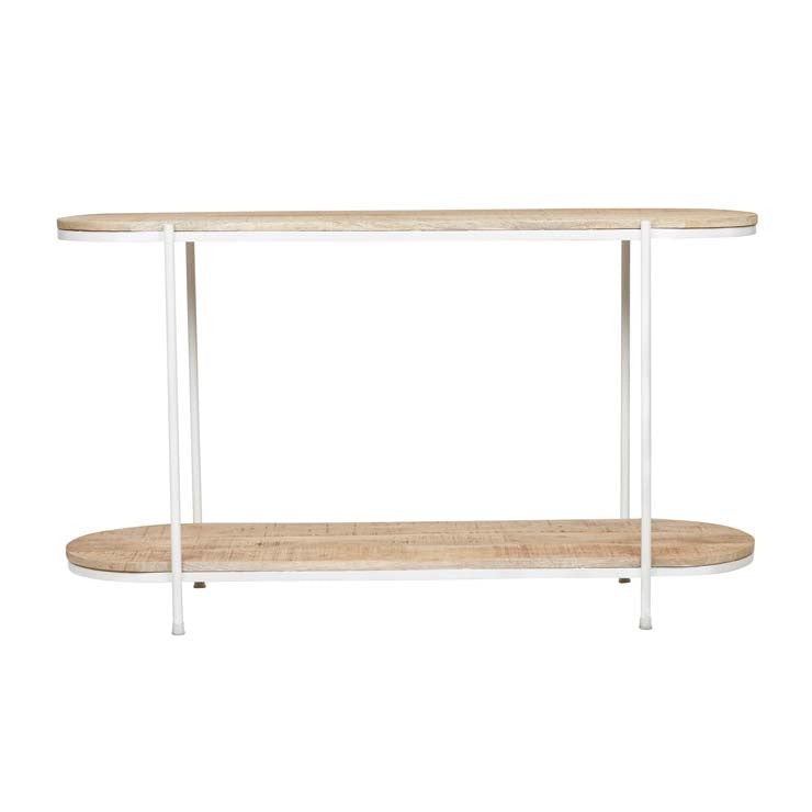 GlobeWest | Merricks Oval Console - Natural / White
