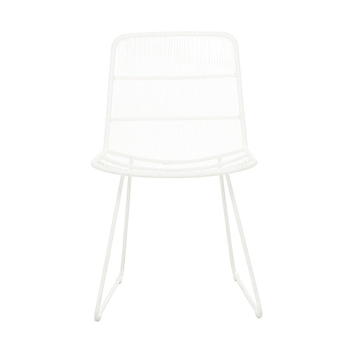 Granada Sleigh (outdoor) dining chair WHITE